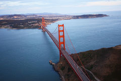 golden gate bridge aerial view Stock Image
