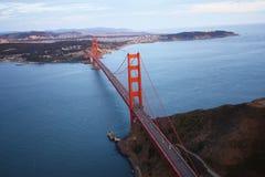 Golden gate bridge aerial view Stock Image