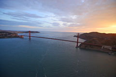golden gate bridge aerial view Stock Images
