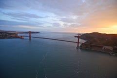 Golden gate bridge aerial view Stock Images