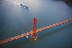 golden gate bridge aerial view Royalty Free Stock Images