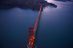 golden gate bridge aerial view Royalty Free Stock Photo