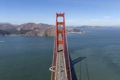 Golden Gate Bridge Aerial View Towards Marin Headlands Stock Photography