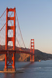 Golden Gate bridge, afternoon, copyspace Stock Images