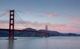 Golden gate bridge al tramonto, San Francisco, California Immagini Stock