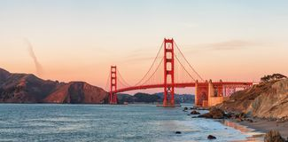 Golden gate bridge al tramonto, San Francisco U.S.A. Immagine Stock Libera da Diritti