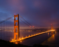 Golden gate bridge all'alba Fotografie Stock