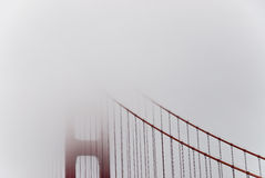 Golden Gate Bridge And Fog Stock Image