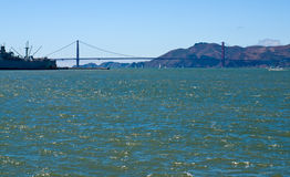 Golden Gate Bridge as Seen from Pier 39 Royalty Free Stock Photography
