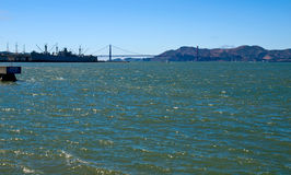 Golden Gate Bridge as Seen from Pier 39 Stock Photos