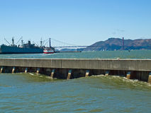 Golden Gate Bridge as Seen from Pier 39 Stock Images