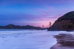 The Golden Gate Bridge from Baker Beach royalty free stock image