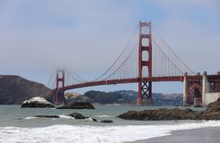 Golden Gate Bridge from Baker Beach in San Francisco. California Royalty Free Stock Photography