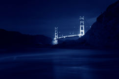 Golden Gate Bridge at Baker Beach, San Francisco, California, US Stock Photos