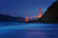 Golden Gate Bridge at Baker Beach, San Francisco, California, USA Royalty Free Stock Image