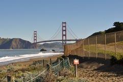 Golden Gate Bridge Baker Beach Trail Head Royalty Free Stock Photos