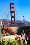 Golden Gate Bridge Battery Lancaster Overlook Stock Images