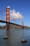 Golden Gate Bridge and bay. USA, San Francisco- Golden Gate Bridge and bay portrait Royalty Free Stock Photography