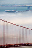 Golden Gate Bridge and Bay Bridge Stock Photo
