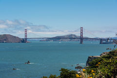 The Golden Gate Bridge and the Bay of San Francisco Royalty Free Stock Photo