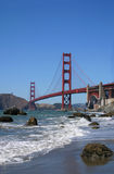 Golden Gate Bridge beach view Royalty Free Stock Image