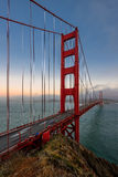 Golden gate bridge bei Sonnenuntergang, San Francisco Stockfotos