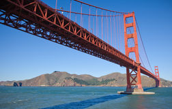 Golden Gate Bridge From Below Royalty Free Stock Photos