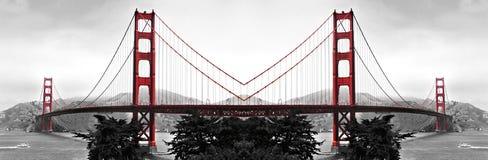 Golden gate bridge-Bezinningen Royalty-vrije Stock Fotografie