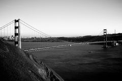 Golden gate bridge in bianco e nero Immagini Stock Libere da Diritti