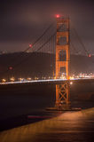 Golden gate bridge bij nacht, San Francisco, Californië royalty-vrije stock foto