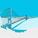 Golden Gate Bridge, Błękitne serie Fotografia Royalty Free