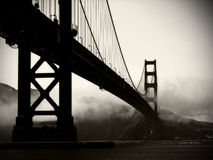 Golden Gate Bridge - Black And White Stock Photography