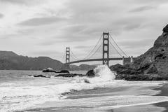 Golden Gate Bridge Black and White Stock Photography