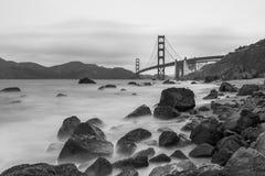 Golden Gate Bridge Black and White Royalty Free Stock Photos