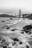 Golden Gate Bridge Black and White Stock Image