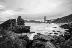 Golden Gate Bridge Black and White Stock Photo