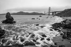 Golden Gate Bridge Black and White Royalty Free Stock Photography