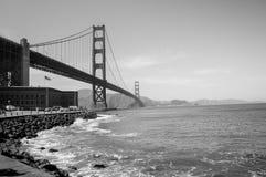 Golden Gate Bridge Black and White Royalty Free Stock Image