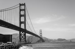 Golden Gate Bridge Black and White Royalty Free Stock Images