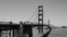 Golden Gate Bridge in Black and white Royalty Free Stock Image