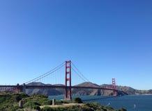 Golden gate bridge-Blick heraus Lizenzfreie Stockfotos