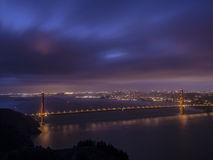 Golden Gate Bridge at Blue Hour Stock Photos