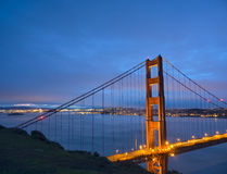 Golden Gate Bridge at Blue Hour Royalty Free Stock Images