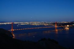 Golden Gate Bridge at Blue Hour Royalty Free Stock Image