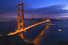 Golden Gate Bridge Boats San Francisco Royalty Free Stock Photos