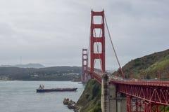 Golden gate bridge-Brugweergeven stock afbeelding