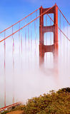 Golden gate bridge célèbre et le brouillard célèbre de San Francisco Image stock