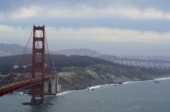 Golden Gate Bridge. In California Stock Photography