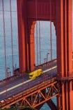 Golden gate bridge chiusura gennaio 2015 Fotografia Stock Libera da Diritti