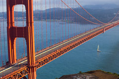 Golden gate bridge chiusura gennaio 2015 Immagine Stock Libera da Diritti